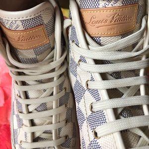 7bbb17c4044b Louis Vuitton Shoes - Louis Vuitton Damier Azur Sneakers Box Shoes Cool